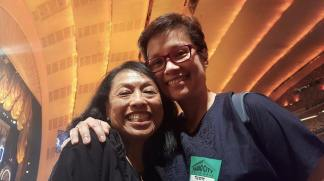 Baayork Lee and Lea Salonga at the 71st Annual Tony Awards ceremony rehearsal on June 11, 2017. Photo: NAAP/Facebook