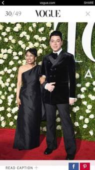 Bayork wearing an original Malan Breton with the designer, posing for Vogue on the red carpet at Radio City Music Hall on June 11, 2017 in New York City. Photo: NAAP/Facebook