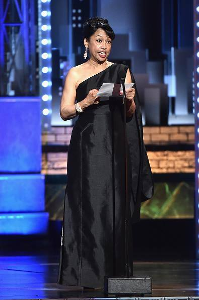 Baayork Lee accepts the Isabelle Stevenson Award award onstage during the 2017 Tony Awards at Radio City Music Hall on June 11, 2017 in New York City. Photo: NAAP/Facebook