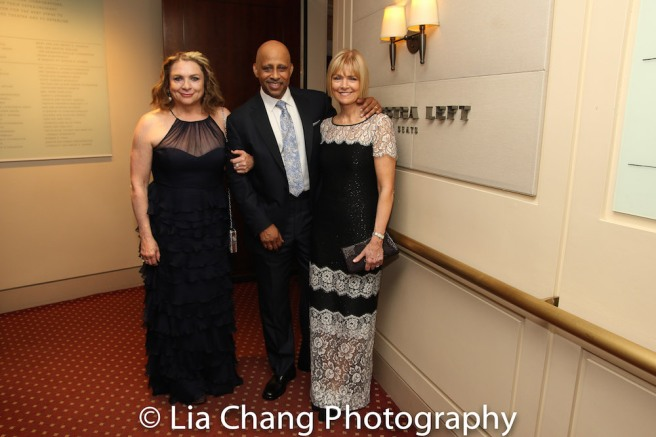 Constanza Romero, Ruben Santiago-Hudson and Jeannie Santiago-Hudson. Photo by Lia Chang
