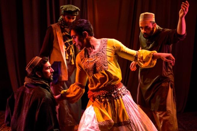Deven Kolluri, Jonathan Raviv, Nikhil Saboo and Osh Ghanimah in THE BOY WHO DANCED ON AIR. Photo by Maria Baranova