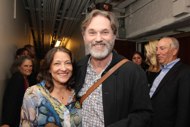 Georgiana and Richard Thomas backstage at Manhattan Theatre Club's THE LITTLE FOXES at the Samuel J. Friedman Theatre in New York. Photo by Lia Chang