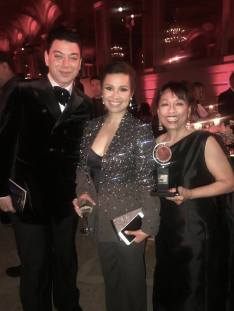 Designer Malan Breton, Lea Salonga and Baayork Lee. Photo: NAAP/Facebook
