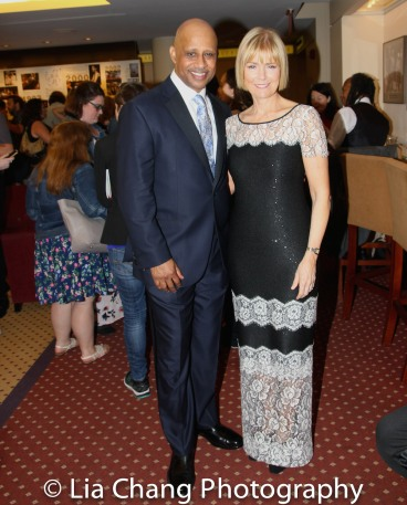 Ruben Santiago-Hudson and his wife Jeannie. Photo by Lia Chang