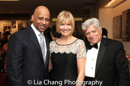 Ruben Santiago-Hudson, Jeannie Santiago-Hudson and guest. Photo by Lia Chang