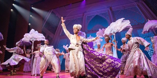 Telly Leung as Aladdin and Major Attaway as Genie in Broadway's ALADDIN. Photo by Matthew Murphy