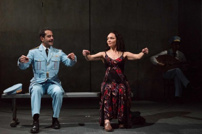 Tony Shalhoub and Katrina Lenk in THE BAND's VISIT (Photo: Ahron R. Foster)