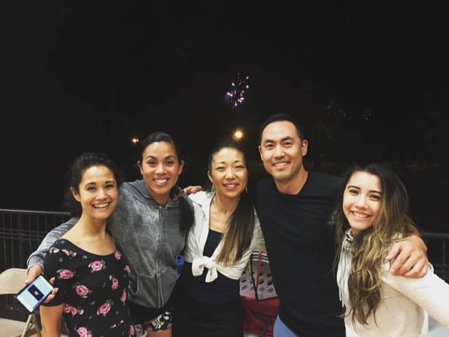 Ali Ewoldt, Emily Hsu, Lainie Sakakura, Marcus Choi and Justina Aveyard. Photo courtesy of Marcus Choi