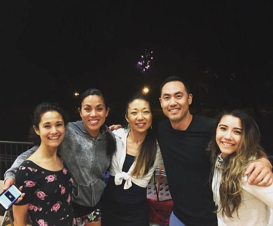 Ali Ewoldt, Emily Hsu, Lainie Sakakura, Marcus Choi and Justina Aveyard. Photo courtesy of Marcus Choi