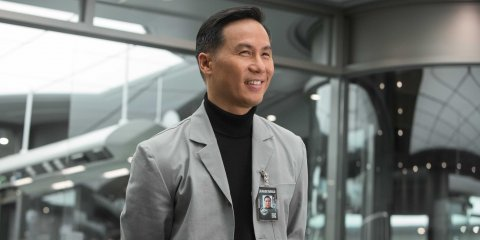 "BD Wong as Dr. Henry Wu in Jurassic World. Photo: Chuck Zlotnick/Universal/""Jurassic World"""
