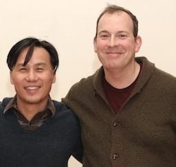 Collaborators BD Wong and Wayne Barker. Photo by Lia Chang