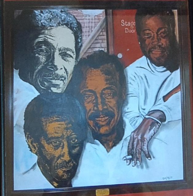 A Playwright & 3 Actors: Adolph Caesar, Carl Gordon, Ed Wheeler and Charles Fuller. (Courtesy of Ed Wheeler)