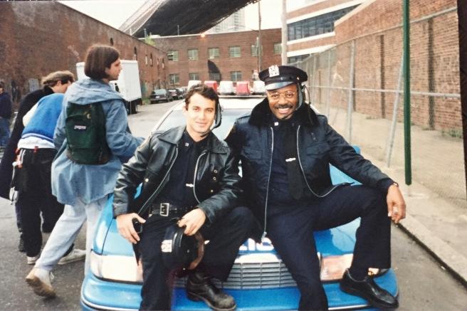Andrew Lauren and Ed Wheeler on the set of BLEACH. (Courtesy of Ed Wheeler)