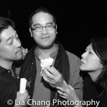 Peter Kim, Ed Sylvanus Iskandar and Nancy Kim Parsons-Borland Photo by Lia Chang
