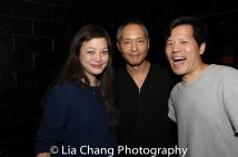 Carla Ching, Ken Leung and Dustin Chinn Photo by Lia Chang