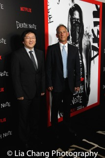 Producers Masi Oka and Jason Hoffs attend the 'Death Note' New York premiere at AMC Loews Lincoln Square 13 theater on August 17, 2017 in New York City. Photo by Lia Chang