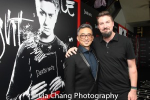 Paul Nakauchi and director Adam Wingard attend the 'Death Note' New York premiere at AMC Loews Lincoln Square 13 theater on August 17, 2017 in New York City. Photo by Lia Chang