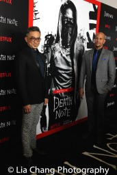 Paul Nakauchi and husband David Mateo attend the 'Death Note' New York premiere at AMC Loews Lincoln Square 13 theater on August 17, 2017 in New York City. Photo by Lia Chang
