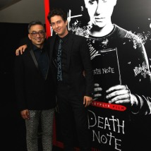 Paul Nakauchi and Nat Wolff attend the 'Death Note' New York premiere at AMC Loews Lincoln Square 13 theater on August 17, 2017 in New York City. Photo by Lia Chang