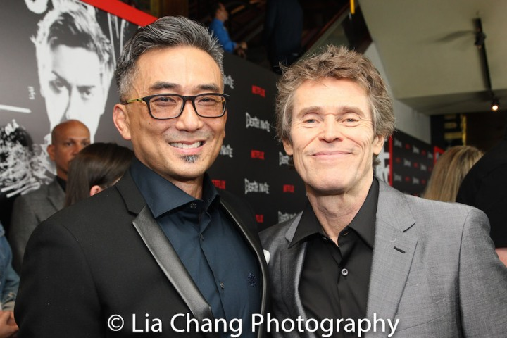 Paul Nakauchi and Willem Dafoe attend the 'Death Note' New York premiere at AMC Loews Lincoln Square 13 theater on August 17, 2017 in New York City. Photo by Lia Chang