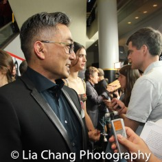 Paul Nakauchi being interviewed on the black carpet of the 'Death Note' New York premiere at AMC Loews Lincoln Square 13 theater on August 17, 2017 in New York City. Photo by Lia Chang