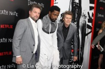 Shea Whigham, LaKeith Stanfield and Willem Dafoe attend the 'Death Note' New York premiere at AMC Loews Lincoln Square 13 theater on August 17, 2017 in New York City. Photo by Lia Chang