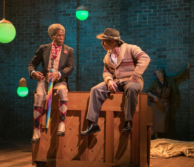 André De Shields​ and Noah Brody in AS YOU LIKE IT at Bay Street Theater​. Copyright Lenny Stucker