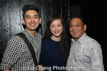 Jonathan Castanien, playwright Carla Ching and Randy Tamura Photo by Lia Chang