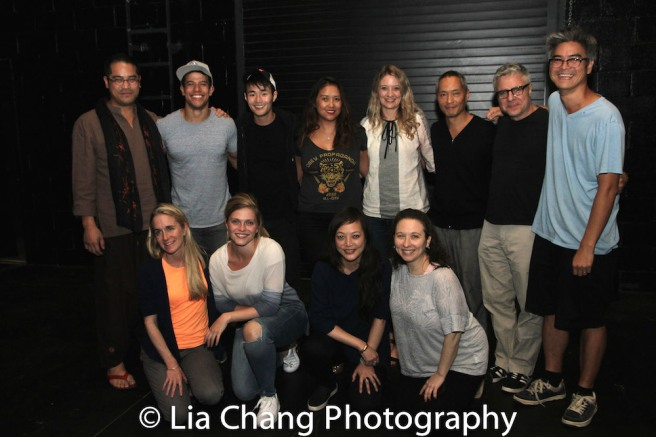 Back Row (L-R) Ed Sylvanus Iskandar, Alex Hernandez, Christopher Larkin, Michelle Vergara Moore, Heidi Schreck, Ken Leung, Neil Pepe, Lloyd Suh, Front Row (L-R) Annie MacRae, Molly Griggs, Carla Ching and Abigail Katz. Photo by Lia Chang