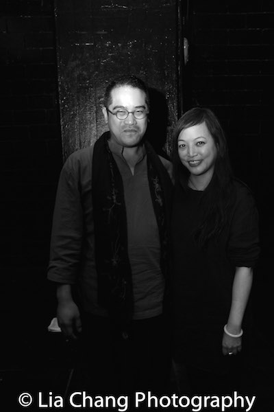 NOMAD MOTEL director Ed Sylvanus Iskandar and playwright Carla Ching. Photo by Lia Chang