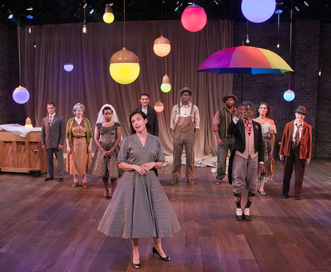 The full company of AS YOU LIKE IT Photo by Lenny Stucker