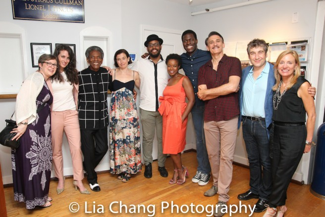 Stage manager Kat West, Leenya Rideout, André De Shields, Hannah Cabell, David Samuel, Quincy Tyler Bernstine, Kyle Scatliffe and Bob Stillman, Artistic Director Scott Schwartz and Executive Director Tracy Mitchell Photo by Lia Chang