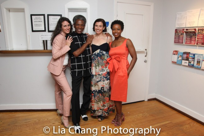 Leenya Rideout, André De Shields, Hannah Cabell and Quincy Tyler Bernstine Photo by Lia Chang