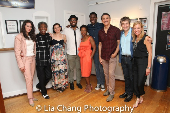 Leenya Rideout, André De Shields, Hannah Cabell, David Samuel, Quincy Tyler Bernstine, Kyle Scatliffe and Bob Stillman, Artistic Director Scott Schwartz and Executive Director Tracy Mitchell Photo by Lia Chang