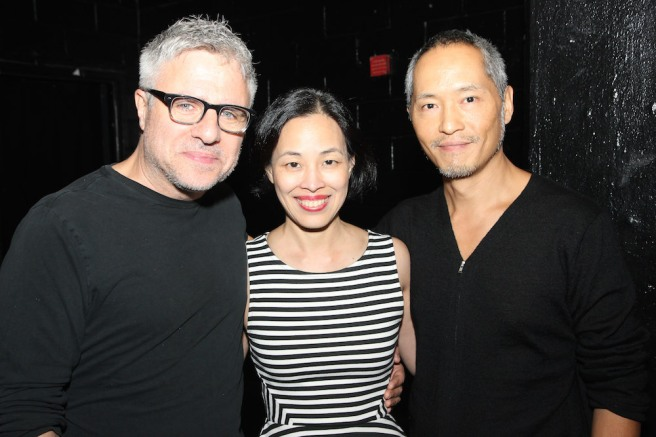 A HOT KEYS reunion for Neil Pepe, Lia Chang and Ken Leung. Photo by Garth Kravits