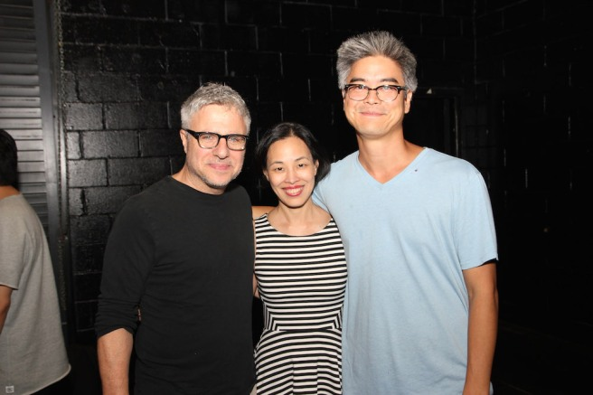 Atlantic Theater Company Artistic Director Neil Pepe, Lia Chang and Asian American MixFest co-producer and playwright Lloyd Suh. Photo by Garth Kravits