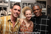 Nick Cearley, Lauren Molina and André De Shields Photo by Lia Chang
