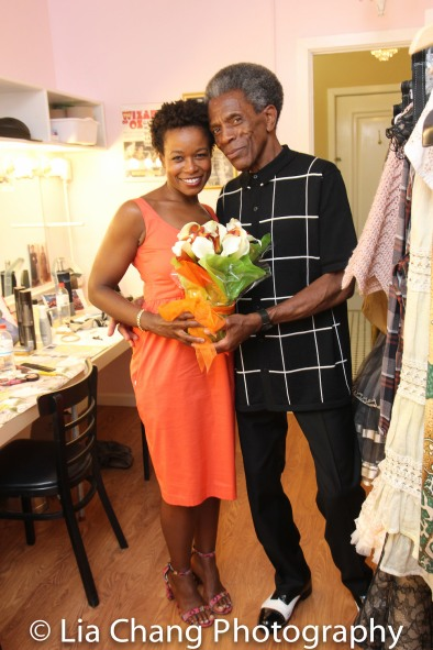 Quincy Tyler Bernstine and André De Shields Photo by Lia Chang