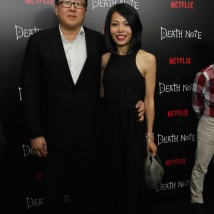 Producer Roy Lee and guest attend the 'Death Note' New York premiere at AMC Loews Lincoln Square 13 theater on August 17, 2017 in New York City. Photo by Lia Chang