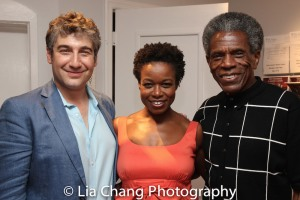 Artistic Director Scott Schwartz, Quincy Tyler Bernstine and André De Shields Photo by Lia Chang