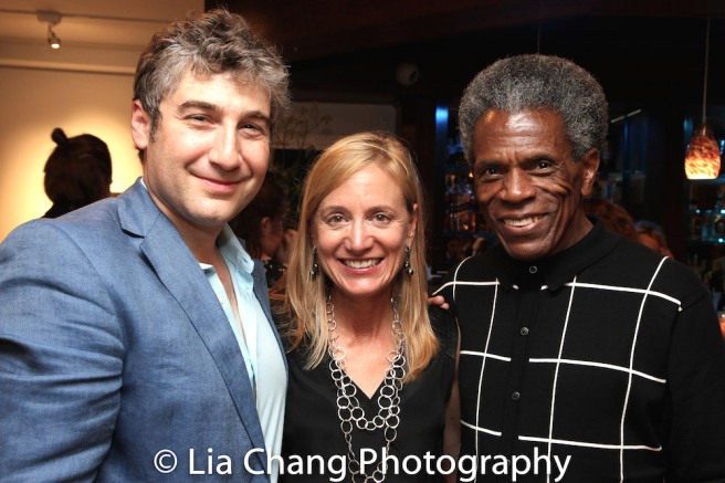 Bay Street Theater Artistic Director Scott Schwartz, Executive Director Tracy Mitchell and André De Shields Photo by Lia Chang