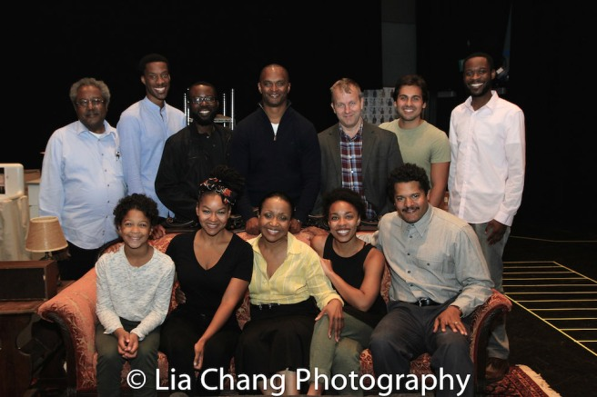 (Standing) Willie Dirden, York Walker, Charlie Hudson III, director Carl Cofield, Nat DeWolf, David Joel Rivera, Andrew Binger. (Seated) Owen Tabaka, Crystal A. Dickinson, Brenda Pressley, Jasmine Batchelor and Brandon J. Dirden Photo by Lia Chang