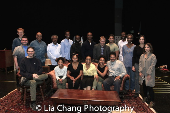 The cast and creative team of A RAISIN IN THE SUN Photo by Lia Chang
