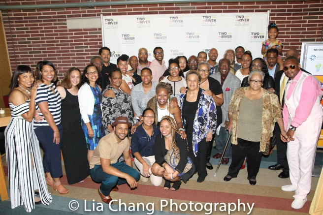 The Dirden-Dickinson clan came out to celebrate opening night and Willie Dirden's 72nd birthday. Photo by Lia Chang