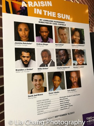 The cast of Two River Theater's A RAISIN IN THE SUN.