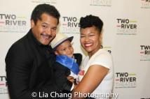 Brandon J. Dirden, Chase Dirden and Crystal A. Dickinson. Photo by Lia Chang