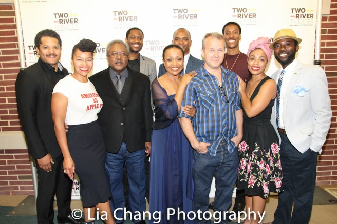 Brandon J. Dirden, Crystal A. Dickinson, Willie Dirden, Andrew Binger, Brenda Pressley, Director Carl Cofield, Nat DeWolf, York Walker, Jasmine Batchelor, Charlie Hudson III (not pictured: Owen Tabaka and David Joel Rivera. Photo by Lia Chang
