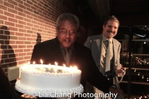 Willie Dirden celebrates his 72nd birthday on opening night. Photo by Lia Chang