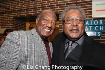 A guest and Willie Dirden. Photo by Lia Chang