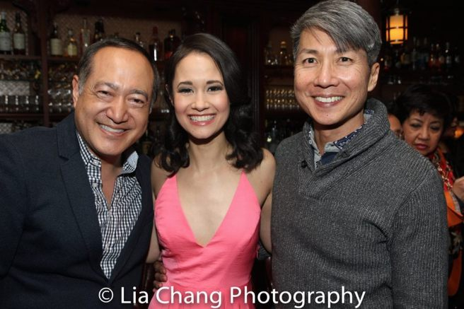 Director Alan Muraoka, PHANTOM OF THE OPERA star Ali Ewoldt and author Jason Ma. Photo by Lia Chang